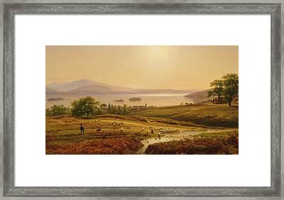 Morning On Lake Maggiore Framed Print by Thomas Worthington Whittredge