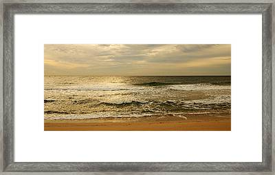 Morning On The Beach - Jersey Shore Framed Print by Angie Tirado