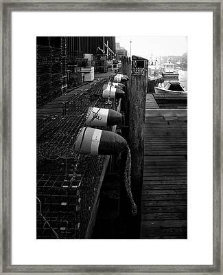 Morning On The Docks Framed Print by Bob Orsillo