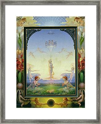 Morning Framed Print by Philipp Otto Runge
