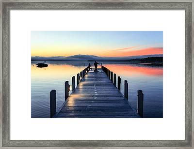 Morning Pier Framed Print by Todd Klassy