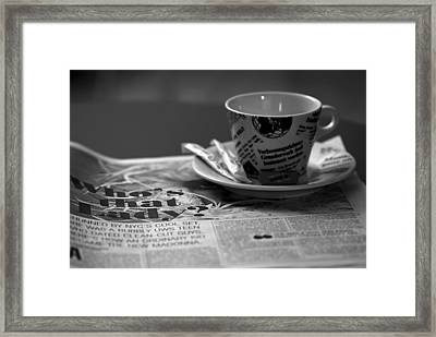 Morning Read Framed Print by Evelina Kremsdorf