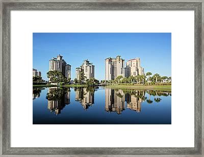 Morning Reflections In Destin Framed Print by Scott Pellegrin
