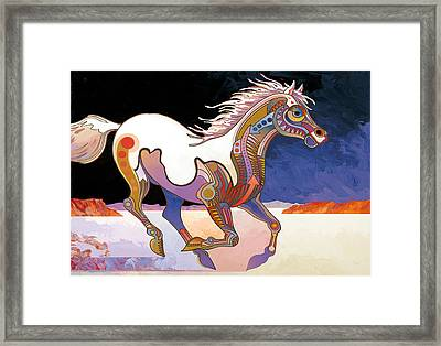 Morning Run Framed Print by Bob Coonts