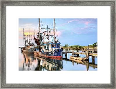 Morning Shrimpers Framed Print by JC Findley