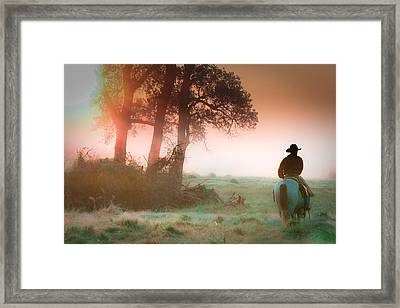 Morning Solitude Framed Print by Toni Hopper