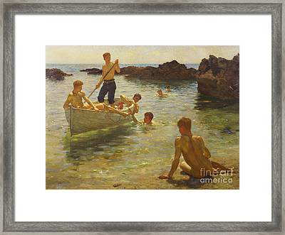 Morning Splendour Framed Print by Henry Scott Tuke