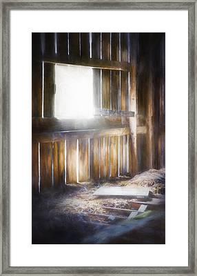 Morning Sun In The Barn Framed Print by Scott Norris