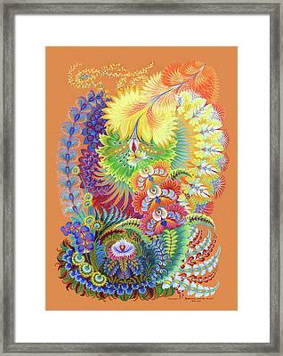 Morning Sunny Wave Framed Print by Olena Kulyk