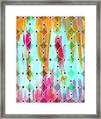 Moroccan Circles 2 Framed Print by Desiree Paquette