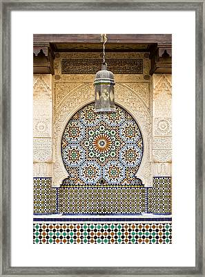 Moroccan Fountain Framed Print by Tom Gowanlock