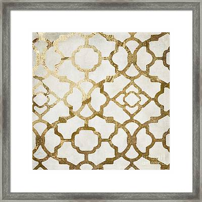 Moroccan Gold I Framed Print by Mindy Sommers