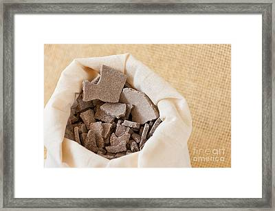 Moroccan Lava Clay Dried Chips Framed Print by Arletta Cwalina