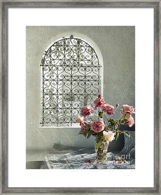 Moroccan Rose Framed Print by Linde Townsend