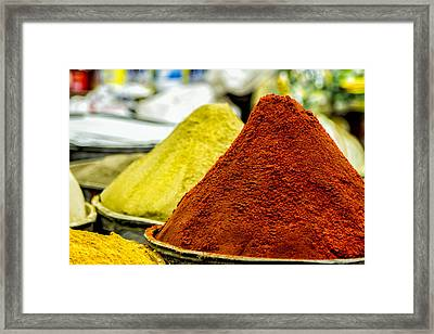 Moroccan Spices Framed Print by Lindley Johnson