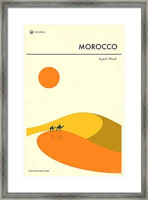 Morocco Travel Poster Framed Print by Jazzberry Blue