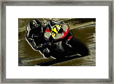 Mororcycle Racing 7a Framed Print by Brian Reaves