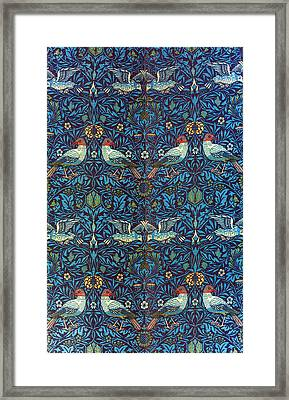 Morris: Bird Fabric, 1878 Framed Print by Granger