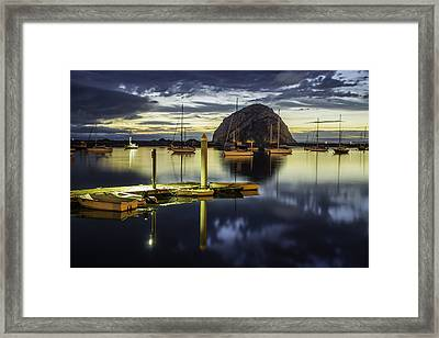 Morro Bay Reflections Framed Print by Jan and Burt Williams