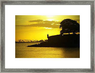 Morro Sunset Framed Print by Mauricio Jimenez