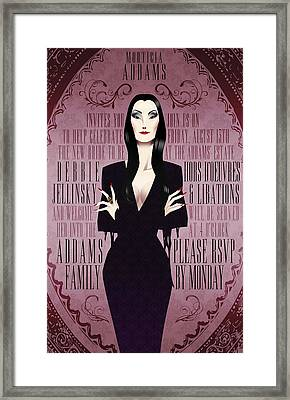 Morticia Addams Bridal Shower Invite Framed Print by Christopher Ables