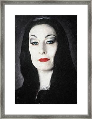 Morticia Addams  Framed Print by Taylan Apukovska