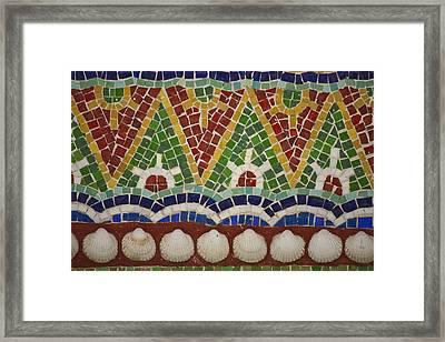 Mosaic Fountain Pattern Detail 4 Framed Print by Teresa Mucha
