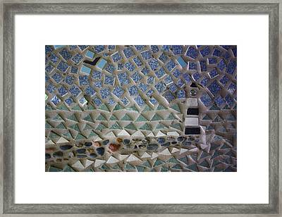 Mosaic Lighthouse And Jetty Framed Print by Anne Babineau