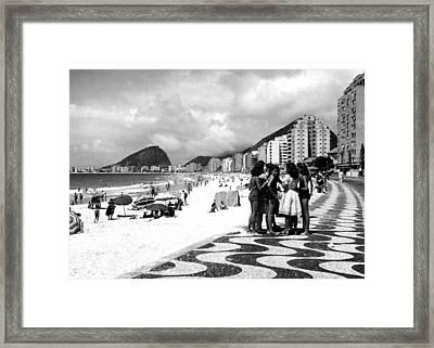 Mosaic Sidewalk, Rio De Janeiro Framed Print by Everett