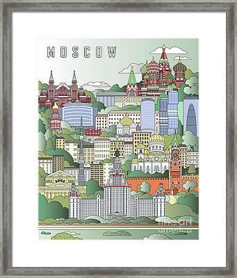 Moscow City Poster Framed Print by Pablo Romero