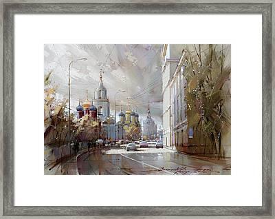 Moscow. Varvarka Street. Framed Print by Ramil Gappasov