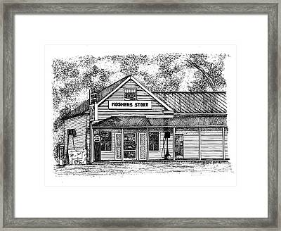 Moshers Store Mercantile Framed Print by Dawn Boyer