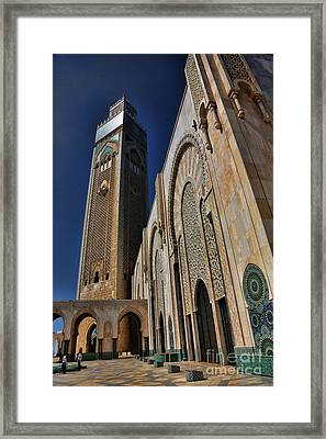 Mosque Casablanca Framed Print by Chuck Kuhn