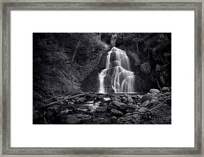 Moss Glen Falls - Monochrome Framed Print by Stephen Stookey