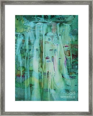 Mossy Falls Framed Print by Elizabeth Carr
