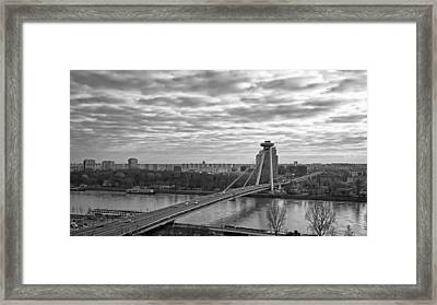 Most Snp Bridge Framed Print by Joan Carroll