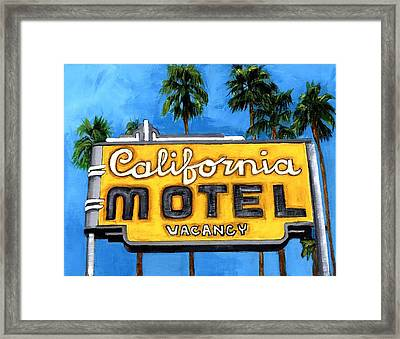 Motel California Framed Print by Debbie Brown