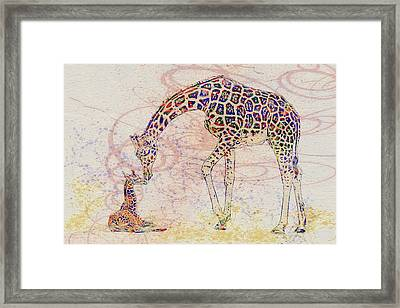 Mother And Child 2 Framed Print by Jack Zulli