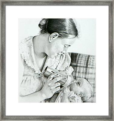 Mother And Child Framed Print by David Ackerson