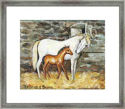 Mother And Child Framed Print by Frances Gillotti