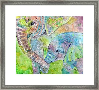 Mother And Child Framed Print by Marie Stone Van Vuuren