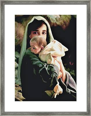Mother And Child Framed Print by Ron Chambers