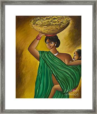 Mother And Child Framed Print by Sweta Prasad