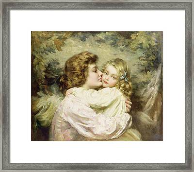 Mother And Daughter  Framed Print by Thomas Benjamin Kennington