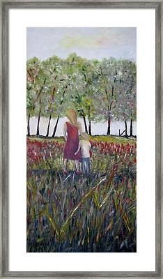 Mother And Son Framed Print by Marilyn  McNish
