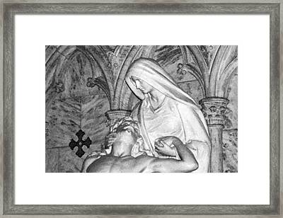 Mother And Son Framed Print by Sharla Gentile