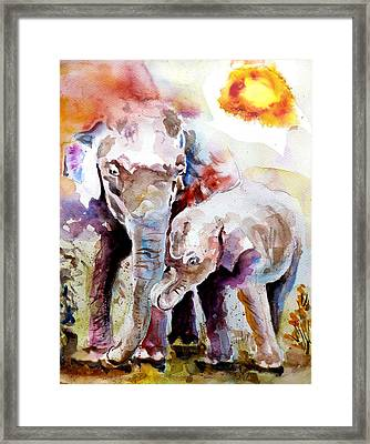 Mother And Son Framed Print by Steven Ponsford