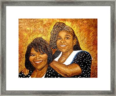 Mother Daughter Friend Framed Print by Keenya  Woods
