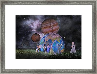 Mother Earth Series Plate2 Framed Print by Betsy C Knapp