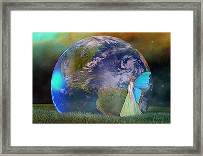 Mother Earth Series Plate3 Framed Print by Betsy C Knapp